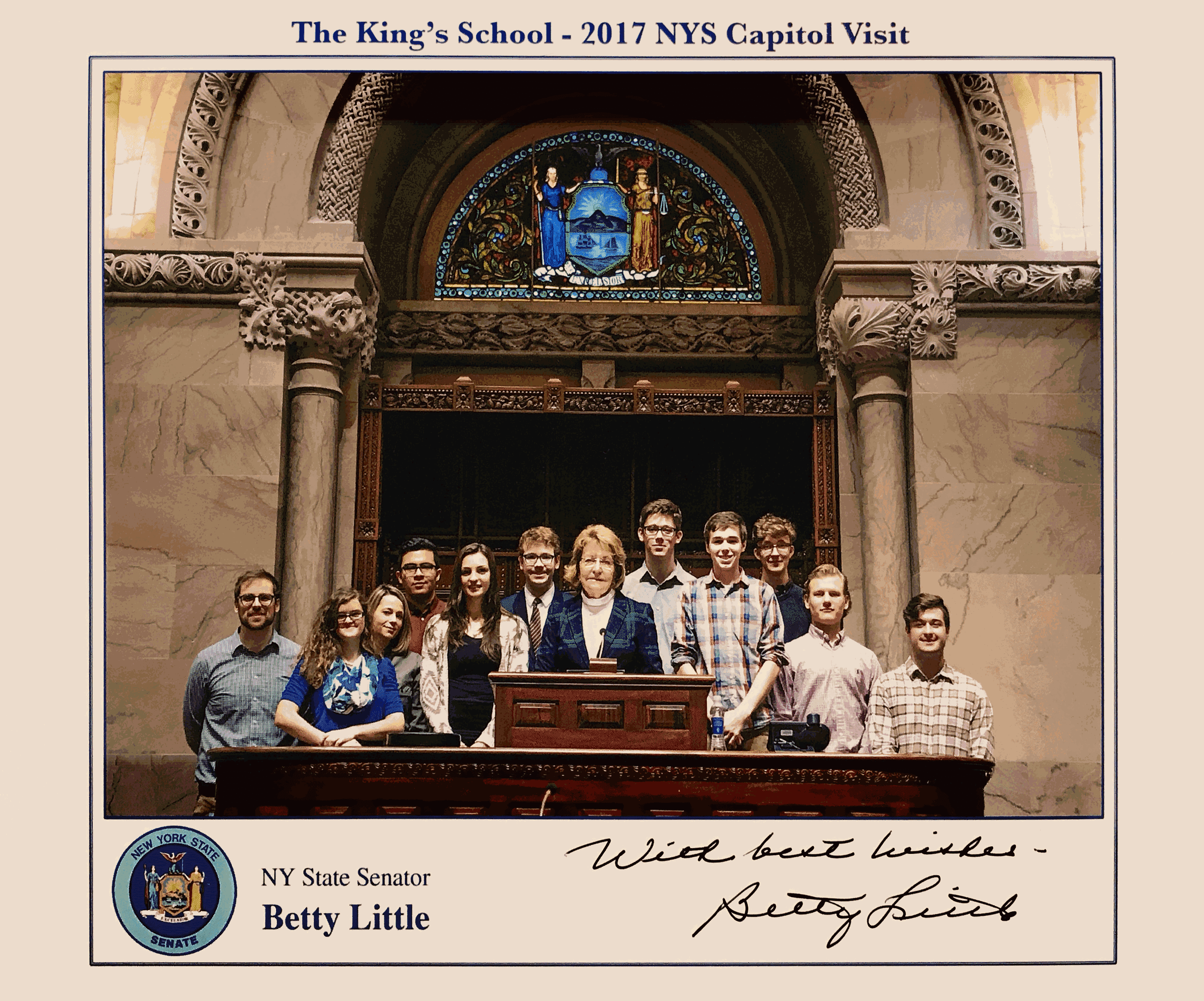King's Seniors Visit State Capital With Mr. Jason