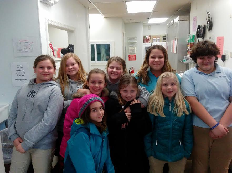 G3 Girls Help Fill The Open Door Food Bank!